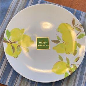 """Kate Spade Lemon Melamine Salad Plates, 9"""""""